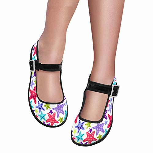 InterestPrint Womens Comfort Mary Jane Flats Casual Walking Shoes Multi 1 OIRqKZf