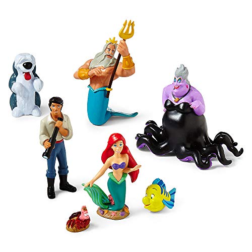 Disney Princess Exclusive Little Mermaid Figure Set - 7 pc Ariel Figurine Playset
