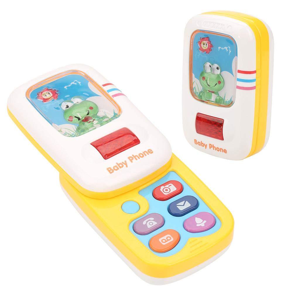 B/éb/é Smartphone Jouet B/éb/é Enfants Mignon Simulation Cellulaire T/él/éphone Jouet Musical avec Lumi/ère Ludique Apprentissage Jouets /Éducatifs