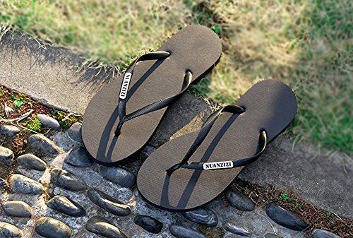 Tongs de Plage Noir Pantoufles Sandales Femmes Chaussures Flip Chaussons Flops Respirante Bohême Été Bevalsa Plateforme 5IqfFwx