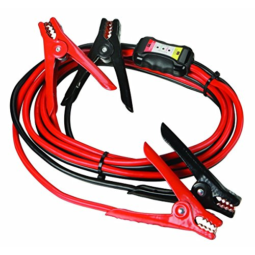 Price comparison product image 12 ft. 8 Gauge Heavy Duty Booster Cables with Inline Battery Tester