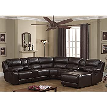 man wah sectional sofa amazoncom 6 pc sectional set in brown kitchen dining  sc 1 th 225 : manwah sectional - Sectionals, Sofas & Couches