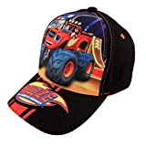 Nickelodeon Toddler Boys Blaze and The Monster Machines Cotton Baseball Cap, Age 2-4 Black, Red