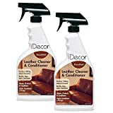 leather cleaner for clothes - ForceField Leather Cleaner & Conditioner (For Leather Furniture, Accessories, Shoes, Leather Handbags, Auto Interiors) Cleans Stains & Dirt (NOT for Suede or Nubuck) (Set of 2 - 22 oz. Sprays)