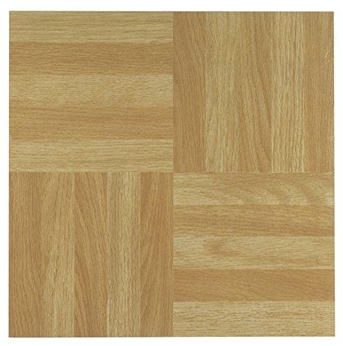 Achim Imports FTVWD20445 Tivoli Four Finger Square Parquet 12x12 Self Adhesive Vinyl Floor Tile-45 Tiles/45 sq. ft. , Piece (Square Laminate Flooring)