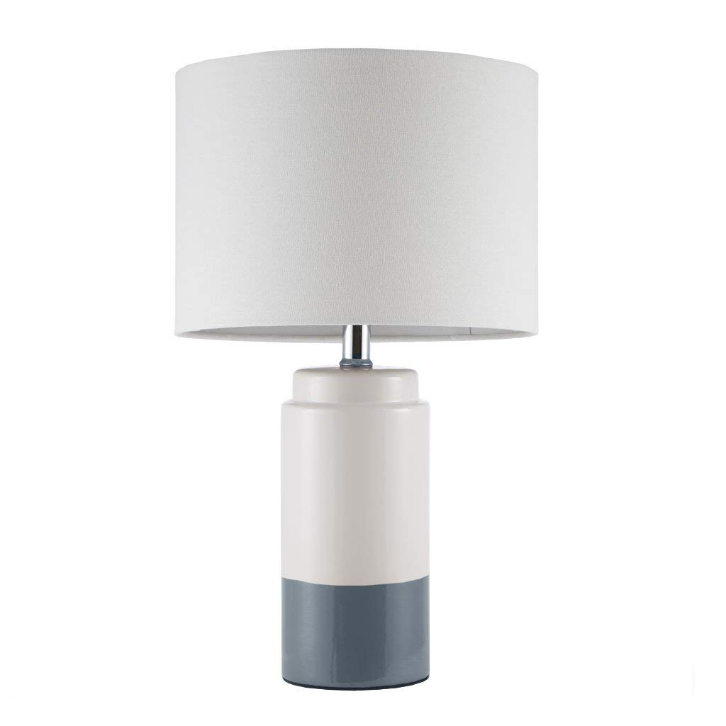 Bailey Navy White Table Lamp Navy 11L X 11W X 18.75H Transitional Metal Ceramic Table Lamps for Bedrooms