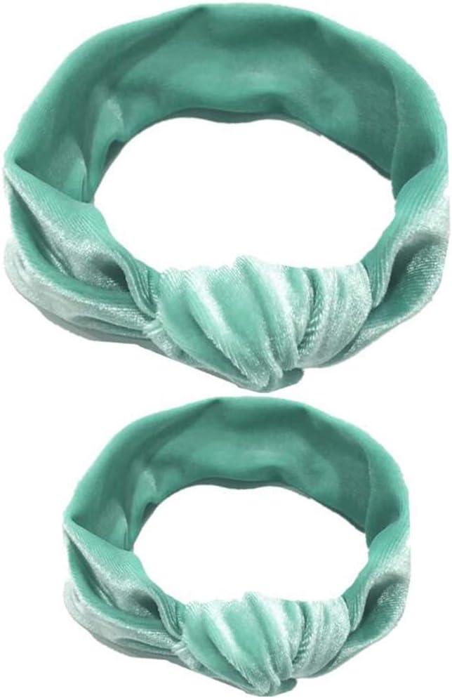 yellow Fashband Mom and Baby Headbands Velvet Headbands Elastic Turban Headbands Baby Girl Hairbands Knotted Headwraps