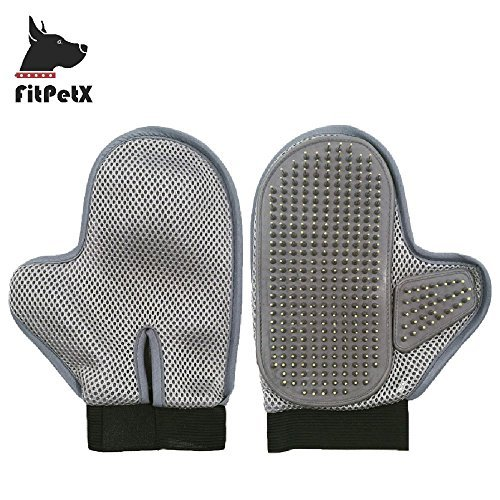 FitPetX Pet Grooming Glove Brush, Pet Grooming Glove Brush for Long and Short Hair Dog and Cat,