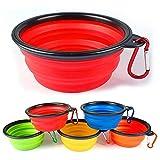 kitchenaid mixer ceramic bowl - 2 PCs Pet Bowl Foldable Flexible Collapsable Bowl for Camping or Portable Dog Bowl