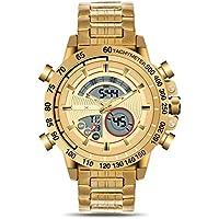 KONXIDO Mens Watches with Analog Digital Dual Display Auto Date Chronograph Watch Big Face Men Sports Watches Waterproof 50M Multi-Functional Quartz Men's Watch