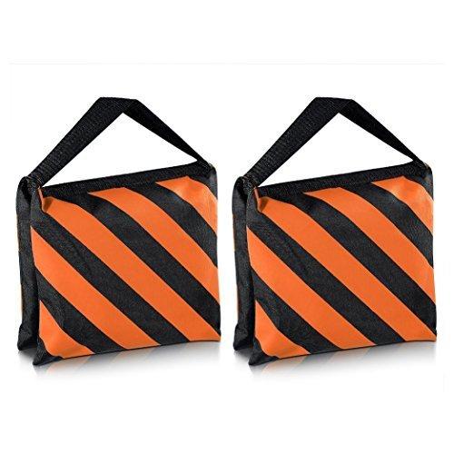 SODIAL(R) Heavyweight bag Heavy duty film bag for studio video studio for light supports tripod arms (2 Pcs Set, Black + Orange) by SODIAL(R)