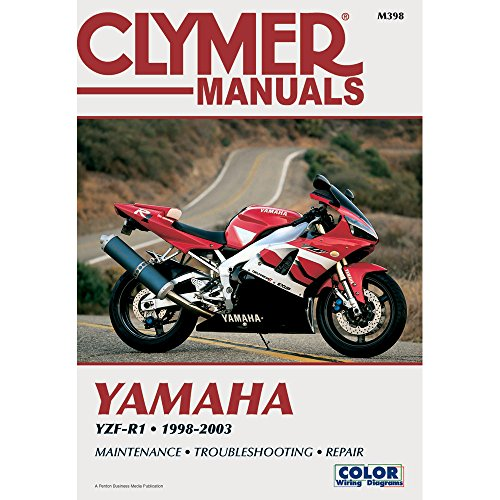 1998-2003 Yamaha YZF-R1 CLYMER MANUAL YAMAHA YZF-R1 1998-2003, Manufacturer: CLYMER, Manufacturer Part Number: M398-AD, Stock Photo - Actual parts may vary.