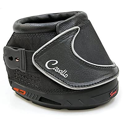Cavallo Sport Hoof Boot Slim Sole, Black from Cavallo Horse Rider Inc