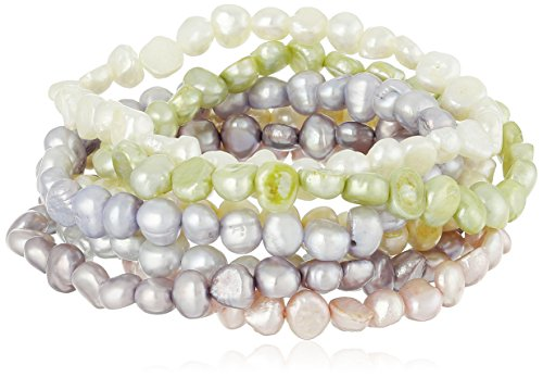 Pastel Freshwater Cultured Stretch Bracelet