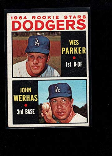 1964 Topps #456 Wes Parker Authentic On Card Autograph Signature Ax6731 - Baseball Slabbed Autographed Cards ()