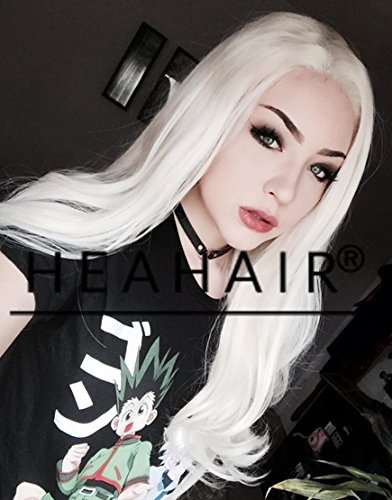 [Heahair Handtied Synthetic Lace Front Wig] (Homemade Hippie Costumes Ideas For Women)