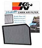K&N VF3008 Washable & Reusable Cabin Air Filter Cleans and Freshens Incoming Air for your Ford, Jaguar, Lincoln