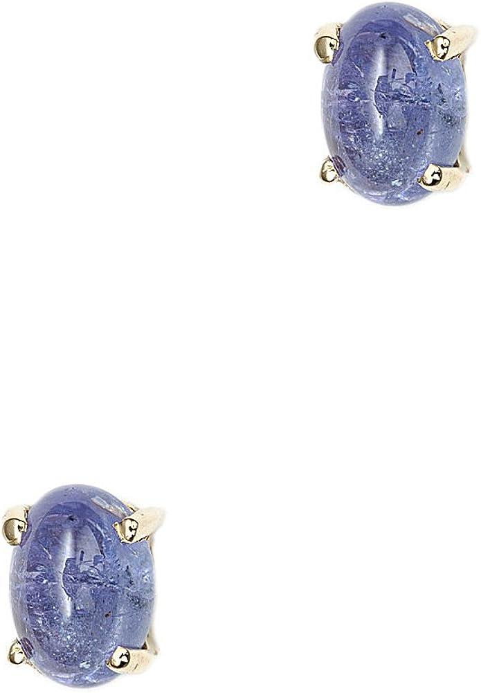 SchmuckMart - pendientes de plata tanzanita de las mujeres de plata con baño de oro