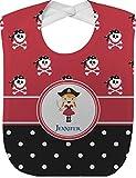 Girl's Pirate & Dots Baby Bib (Personalized)