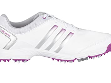 a819ef010d7ad Adidas Ladies Adipower TR Golf Shoes 2015 Ladies White/Silver/Pink 5.5  Regular Fit