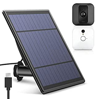 Upgraded Solar Panel for Blink XT2 Security Camera, Wall Mount Outdoor Weather Proof Solar Power Charging Panel for Blink XT/XT 2 Home Security Camera System