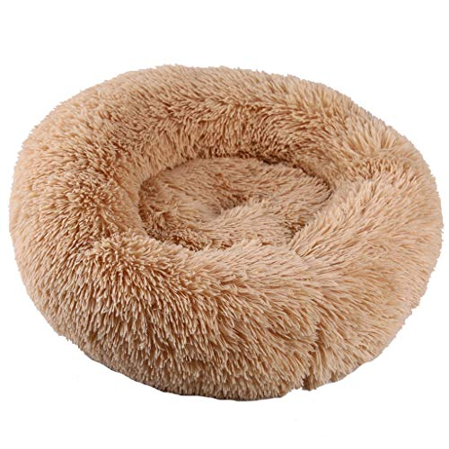 (Fashion Pet Cushion Bed Summer Plush Nest Kennel Lovely Tart Warm Comfortable Dog Mat Pad Cat Mat & LYN Star☪ Beige)