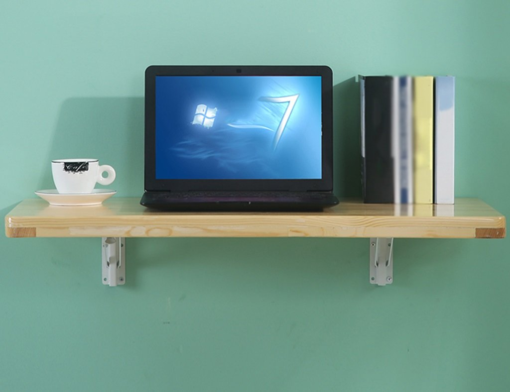WSSFソリッドウッド折りたたみダイニングテーブル壁掛けダブルサポートコンピュータワーキングデスク(サイズはオプション) (サイズ さいず : 60*40cm) B07BX9LXKS 60*40cm 60*40cm
