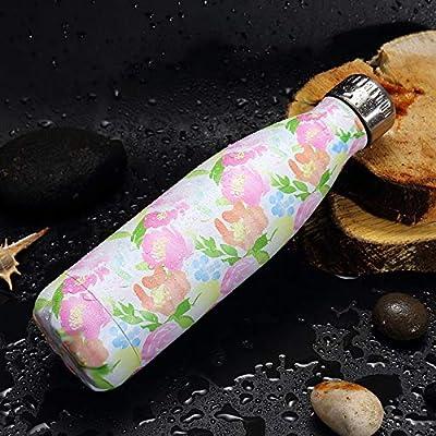 YYBFG Botella de Agua, vacío, Doble Capa, protección del Medio Ambiente, Acero Inoxidable, Caldera Infantil, Agua fría, Aislamiento 24 Horas, 12 Horas sin BPA Reutilizable.: Amazon.es: Hogar