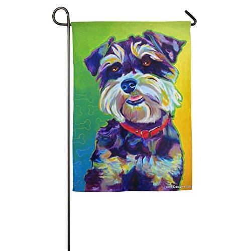 Schnauzer Garden Flag - Schnauzer Dog Animal Summer Personalized Camping Fluttering Season Lawn Garden Flags All-Weather Polyester
