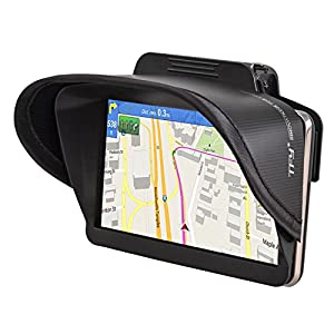 TFY GPS Navigation Sun Shade Visor for Garmin nüvi 2797LMT 7-Inch Portable Bluetooth Vehicle GPS and other 7-Inch GPS