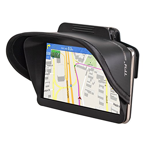 TFY GPS Navigation Sun Shade Visor for Garmin nüvi 2797LMT 7-Inch Portable Bluetooth Vehicle GPS and other 7-Inch (Gps Anti Glare)