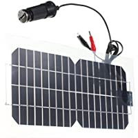 SanSiDo 18V 5.5W Solar Charger Solar Panels 12.4 x 6.5 x 0.06 inches Portable Solar Charger Solar Power With USB Solar Battery Charger for Small Power Appliances, Cabin, Tent