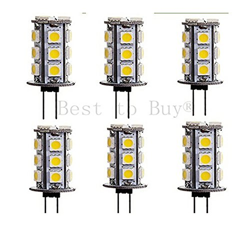 Best to Buy (6-PACK) Warm white Tower T4 GY6.35 Base Bi Pin LED Halogen Replacement Bulb, 12V AC/DC or 24V DC, Desk Lamps, Pendant Lights, Puck Lights, Under-counter Lig...