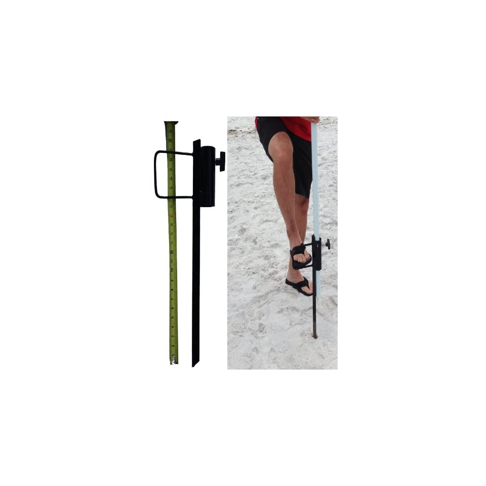 Outdoor beach umbrella stand  Great sand anchor, best wind resistant option for anyone searching for shade. Our portable base fits large and small poles such as Flag, Market, Off set, Tiki torches and Bird feeders. Light weight heavy duty metal