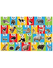 "Melissa & Doug Animal Alphabet Floor Puzzle (Easy-Clean Surface, Promotes Hand-Eye Coordination, 24 Pieces, 36"" L x 24"" W, Great Gift for Girls and Boys - Best for 3, 4, 5, and 6 Year Olds)"