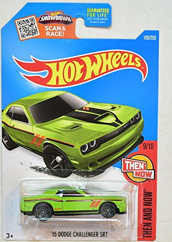 2016-hot-wheels-kmart-collectors-exclusive-then-and-now-9-10-15-dodge-challenger-srt-lime-green