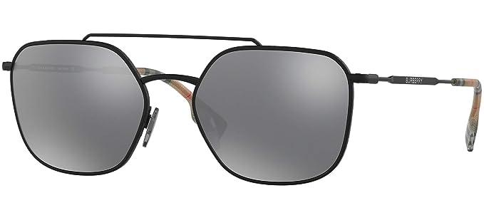 d1345d18b9 Gafas de Sol Burberry FLIGHT BE 3107 MATTE BLACK/GREY hombre: Amazon.es:  Ropa y accesorios