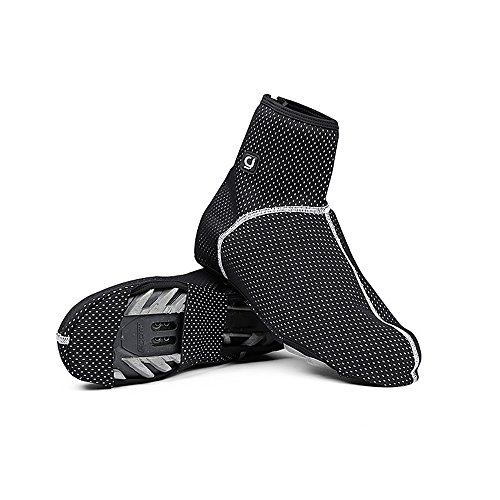 Techway-Thermal-Warm-Fleece-Cycling-Water-Repellent-Windproof-Shoes-Cover-Bicycle-Overshoes