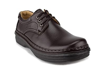 eda401f02f15 ALFA Men's M1799 Lace Up Comfort Walking Work Oxford Shoes, Brown, ...