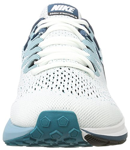 black Nike Zoom blustery Structure space Homme white Chaussures Blue Air cerulean Running Blanc 20 De qZHvqUcwxS