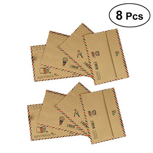 YeahiBaby Vintage Classic Envelopes Airmail Mini Envelopes Postcard B6 8Pcs ()