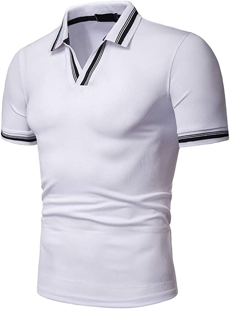 MOTOCO Camisa de Hombre Top Verano Cuello a Rayas ...