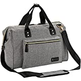 Diaper Bag, RUVALINO Large Diaper Tote Stylish for Mom and Dad Convertible Travel