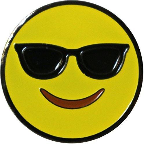 Be The Ball 4U Emoji Smiling with Sunglasses Ball Marker & Nickel Hat ()
