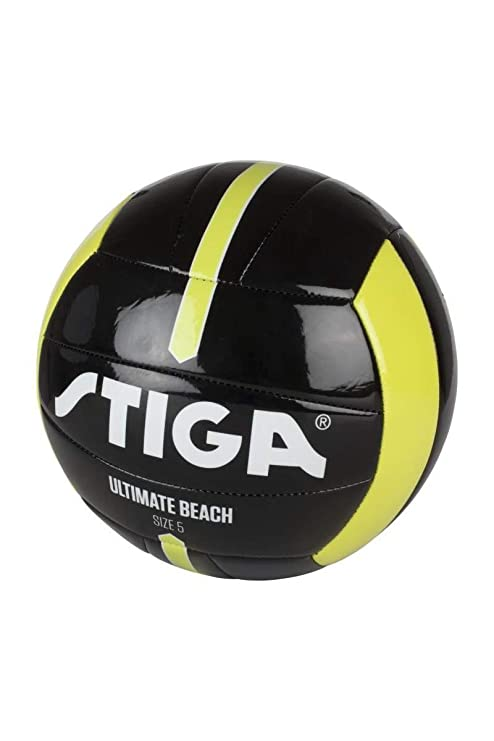 Stiga Pelota de futbol Ultimate Beach 5 Negro/Verde Lima: Amazon ...