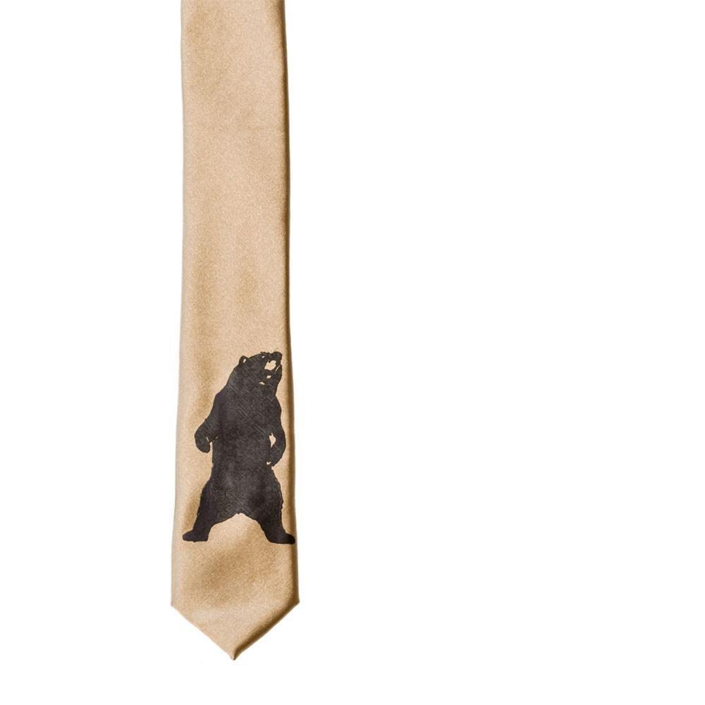 Bear Skinny Tie - Bronze