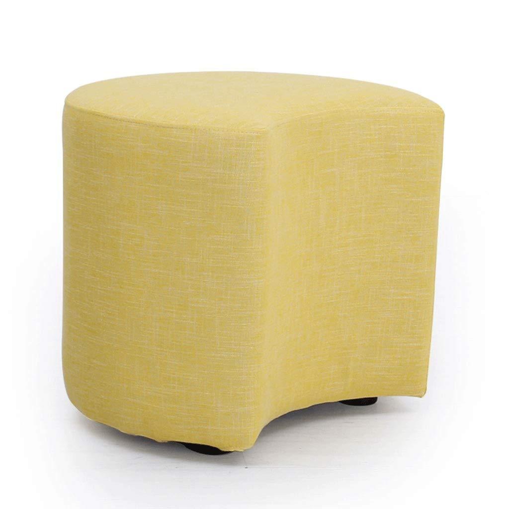 ZDXMZ Stool,Small Stool, Fabric Upholstered,Stools Wood Sofa Fabric Short Shoe(44 44 41cm) (Color : A) by ZDXMZ