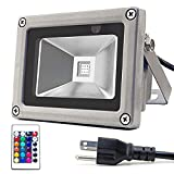 Cheap Zitrades Flood Light 10W RGB LED Floodlight with Remote Control IP65 Waterproof for Outdoor, Patio, Driveway, Pond, Garage, Sidewalk, Backyard