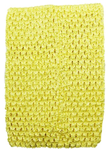 Wholesale Princess 8 Inch Yellow Crochet Top For Kids Sold Individually