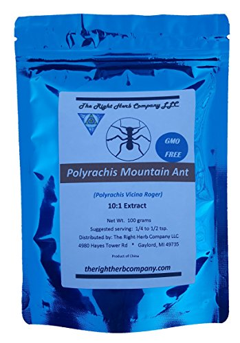 Polyrachis (Vicina Roger) Extract Powder 10:1 Superior Quality Concentration aka Chinese Mountain Ant / Changbai Mountain Ant Extract (100 grams / 3.5oz) (Polyrhachis Ant Extract compare prices)